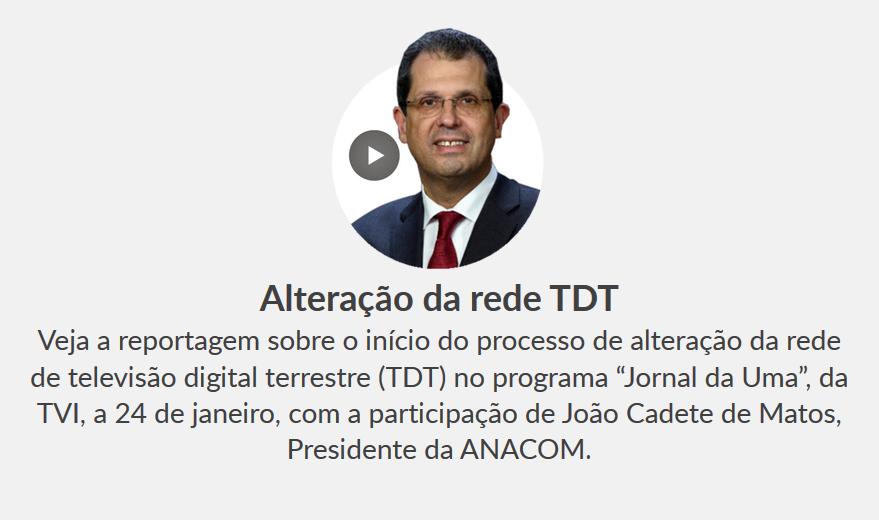 """Reportagem sobre o início do processo de migração da rede de TDT, no programa """"Jornal da Uma"""", da TVI, a 24.01.2020"""